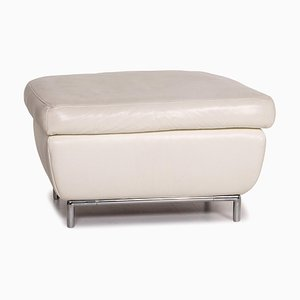 Cream Leather Ottoman from Koinor