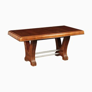Italian Walnut Veneer & Burl Veneer Table, 1930s