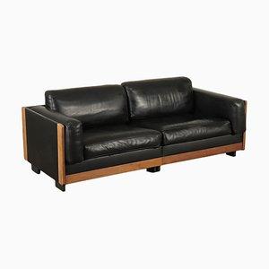 Holz, Leder & Schaumstoff Sofa von Tobia Scarpa für Cassina, 1960er