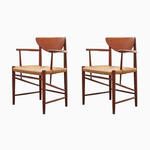 Teak Armchairs by Peter Hvidt & Orla Mølgaard-Nielsen for Soborg Mobler, Denmark, 1956, Set of 2