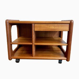 TV or Phone Trolley in Teak, 1970s