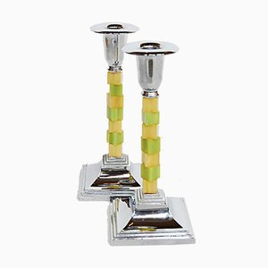 Art Deco Candlesticks, Set of 2
