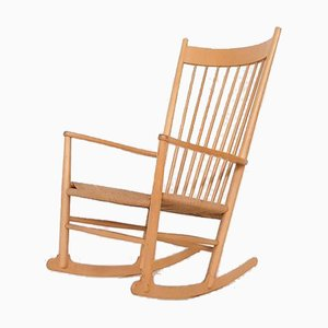 J16 Rocking Chair by Hans J Wegner for Fredericia, Denmark, 1944