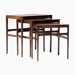 Scandinavian Nesting Table Set, 1960s
