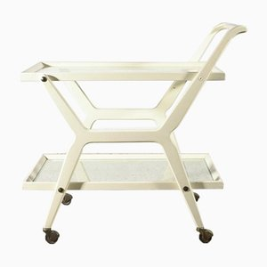 Italian White Lacquered Trolley, 1970s