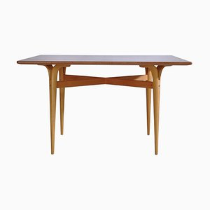 Moderner skandinavischer Tisch mit geschwungenen Beinen von Bruno Mathsson für Karl Mathsson, 1961