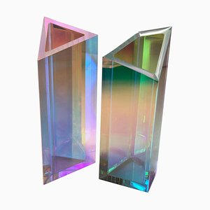 Lucite Vase by Brajak Vitberg, Set of 2