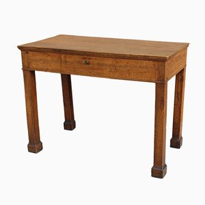 19th Century Italian Empire Walnut Console Table