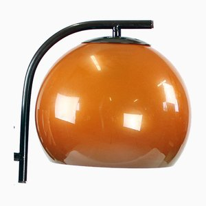 Mid-Century Wall Light in Orange from Szarvasi, Hungary, 1960s