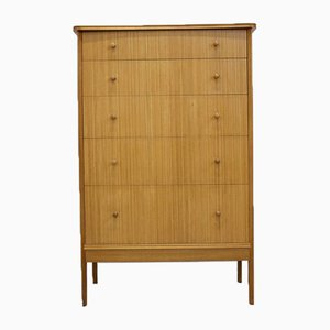 Mid-Century Teak and Walnut Tallboy Chest of Drawers from Vanson, 1960s