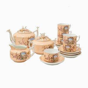 Antikes Kaffeeservice aus Porzellan, 15er Set