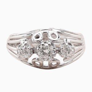 Anello Trinity vintage con diamanti