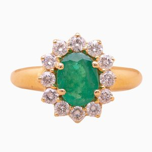 Vintage Greenwich Emerald Ring