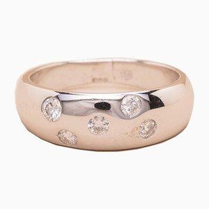 Anillo Corina vintage en forma de diamante de oro