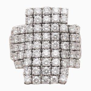Anello da fuoco in oro bianco e diamanti