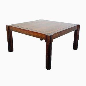 Tavolo da pranzo vintage in legno di Luciano Frigerio, anni '60