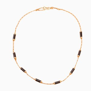 Gold and Onyx Necklace, 1970s
