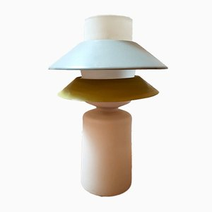 Vintage Opaline & Lacquered Metal Model D-1044 Table Lamp from Raak, 1950s