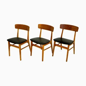 Teak & Beech Dining Chairs from Farstrup, 1960s, Set of 3