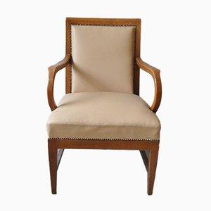 Chaise de Bureau Vintage en Chêne et Cuir
