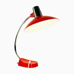 Mid-Century Orange Chrome Table Lamp from HELO Leuchten