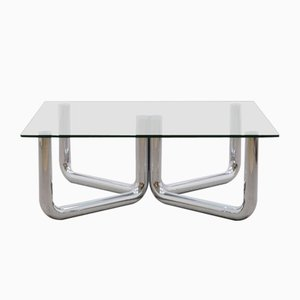 Vintage Chrome Tubular Coffee Table