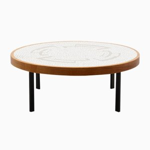 Mid-Century Round Mosaic Coffee Table by Berthold Müller