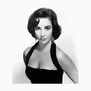 Elizabeth Taylor Seductive Headshot Archival Pigment Print Framed in Black by Everett Collection