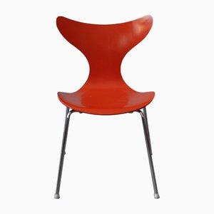 Sedia da pranzo modello 3108 Lily Seagull di Arne Jacobsen per Fritz Hansen, anni '80