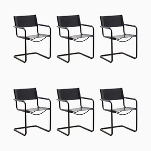 MG5 Dining Chairs by Marcel Breuer for Matteo Grassi, 1980s, Set of 6