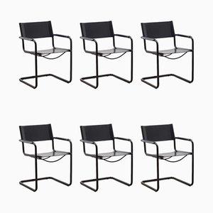 MG5 Esszimmerstühle von Marcel Breuer für Matteo Grassi, 1980er, 6er Set