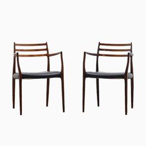 Chaises de Salon Modèle 62 en Palissandre par Niels Otto Møller pour JL Møllers, 1960s, Set de 2