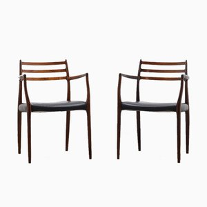 Model 62 Rosewood Dining Chairs by Niels Otto Møller for J.L. Møllers, 1960s, Set of 2