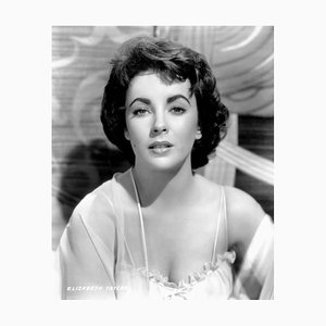 Elizabeth Taylor in Elephant Walk Archival Pigment Print Framed in Black by Everett Collection