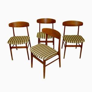 Teak Esszimmerstühle von Sax, 1960er, 4er Set
