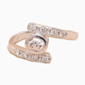 Anello Twist Diamond vintage