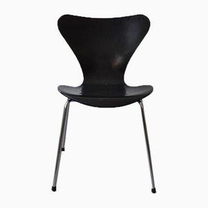 Black Model 3107 7-Series Dining Chair by Arne Jacobsen for Fritz Hansen, 1997