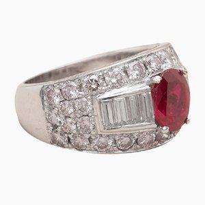 Vintage Ruby Diamond Aissa Ring