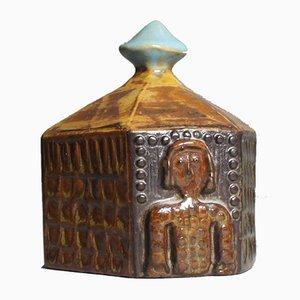 Edificio scultoreo in ceramica della collezione Bagdad di Bertil Vallien per Gustavsberg, Svezia, anni '60