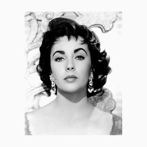 Stunning Elizabeth Taylor in Giant Archival Pigment Print Framed in Black by Everett Collection