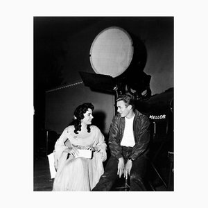 James Dean & Elizabeth Taylor Archival Pigment Print Framed in Black by Everett Collection