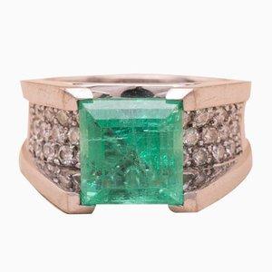 Anello Cocora vintage color smeraldo
