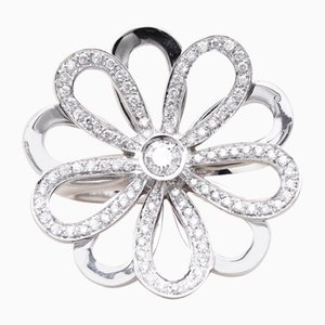 Vintage Gold and Diamond Flower Ring