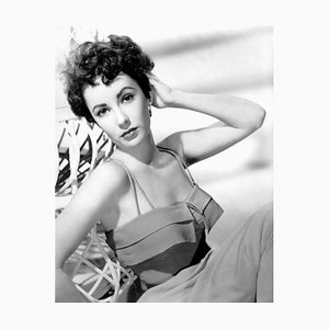 Elizabeth Taylor Fashion Shoot Archival Pigment Print Framed in Black by Everett Collection