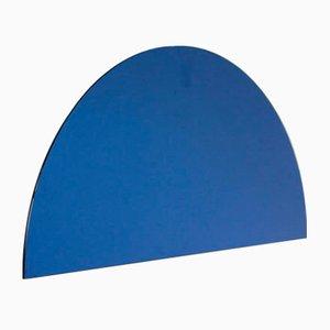 Luna™ Half Moon Blue Tinted Frameless Modern Mirror Medium by Alguacil & Perkoff Ltd