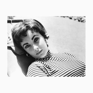 Young Elizabeth Taylor Archival Pigment Print Framed in Black by Everett Collection