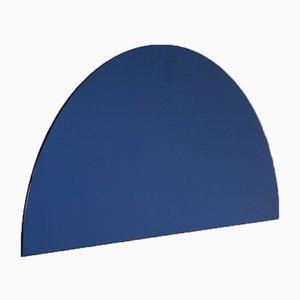 Luna™ Half Moon Blue Tinted Frameless Modern Mirror Large by Alguacil & Perkoff Ltd