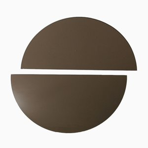 Luna™ Half Moon Bronze Tinted Frameless Minimalist Mirror Regular by Alguacil & Perkoff Ltd, Set of 2