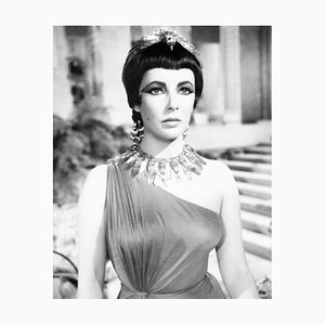 Elizabeth Taylor in Cleopatra Archival Pigment Print Framed in White by Everett Collection
