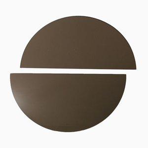 Luna™ Half Moon Bronze Tinted Frameless Minimalist Mirror Medium by Alguacil & Perkoff Ltd, Set of 2